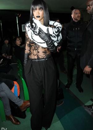 Rihanna: Jean Paul Gaultier Fashion Show -11