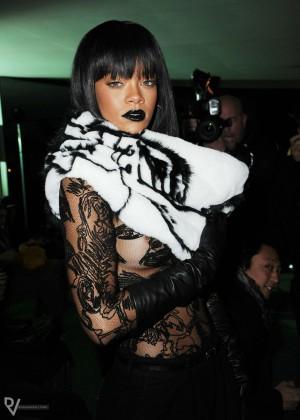 Rihanna: Jean Paul Gaultier Fashion Show -16
