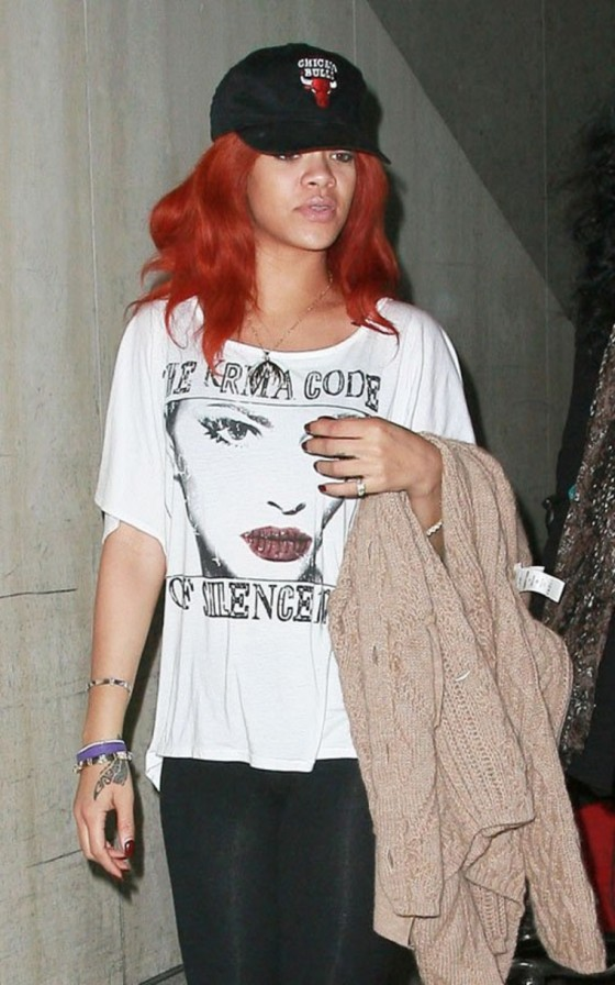 Rihanna – Leggy Candids at LAX Airport