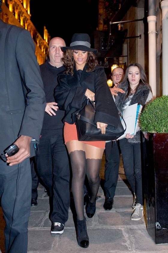 Rihanna - Short Skirt Candids in Paris-02