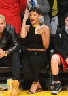 Rihanna - New York Knicks vs. Los Angeles Lakers Game in Los Angeles - December 25, 2012