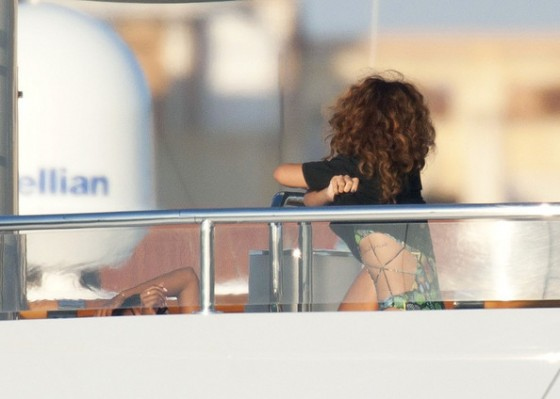 Rihanna – on a Yacht in Saint Tropez