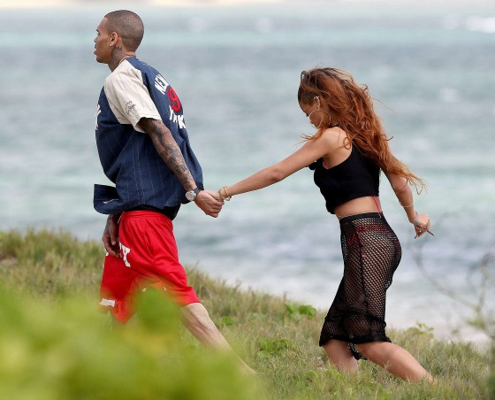 Rihanna in bikini bottom in Hawaii -02