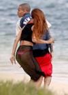 Rihanna in bikini bottom in Hawaii -09