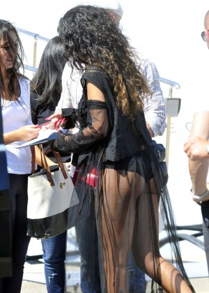 Rihanna Hot in France -03