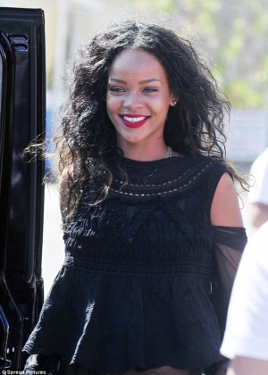 Rihanna Hot in France -07