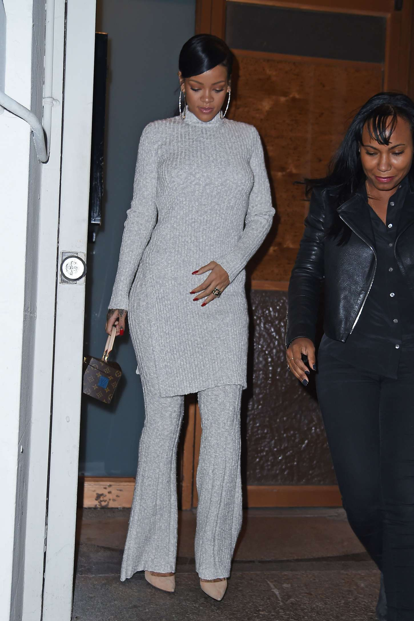 Rihanna 2014 : Rihanna in White at Philippe Chow Restaurant -05