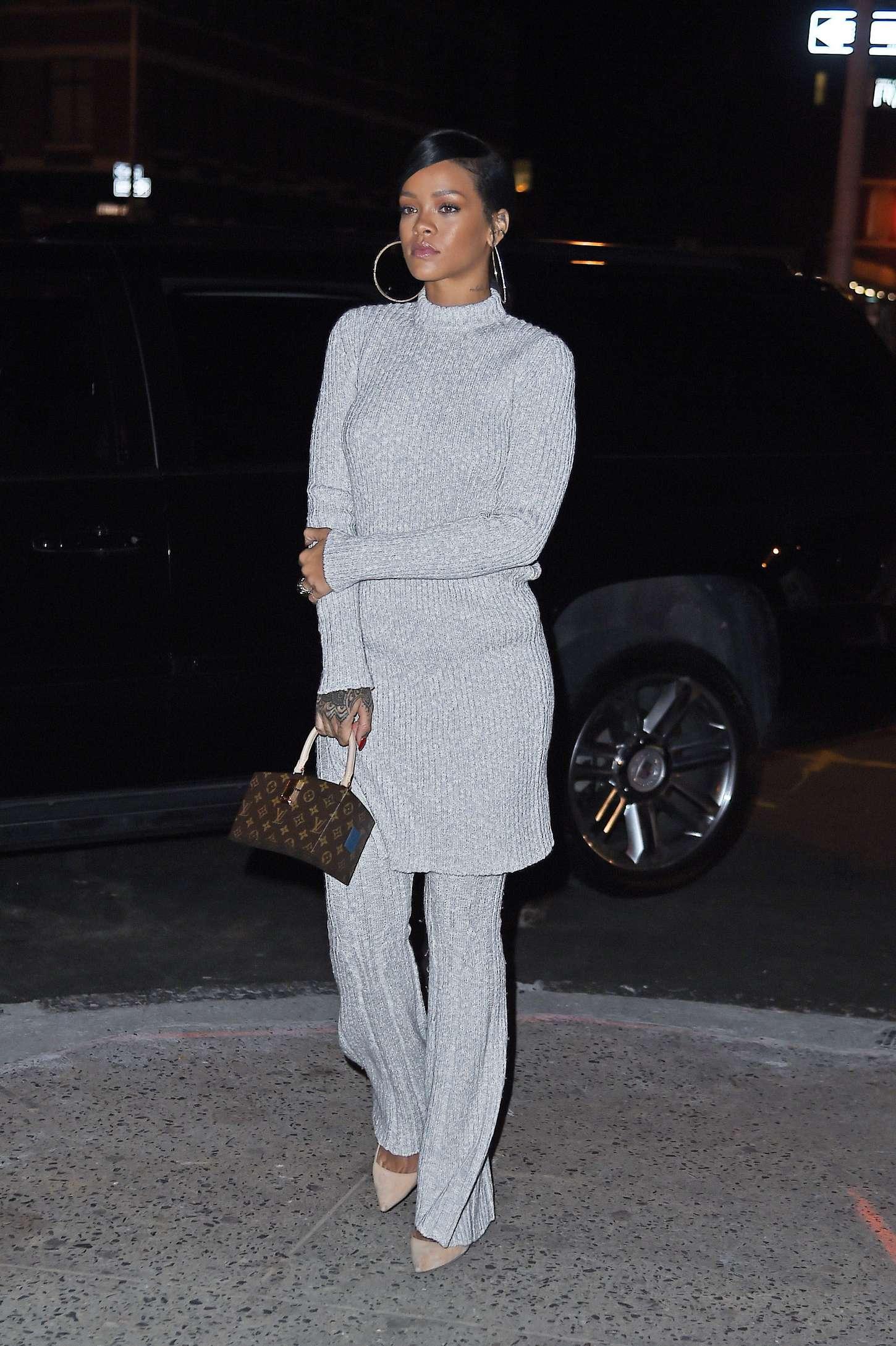 Rihanna 2014 : Rihanna in White at Philippe Chow Restaurant -06