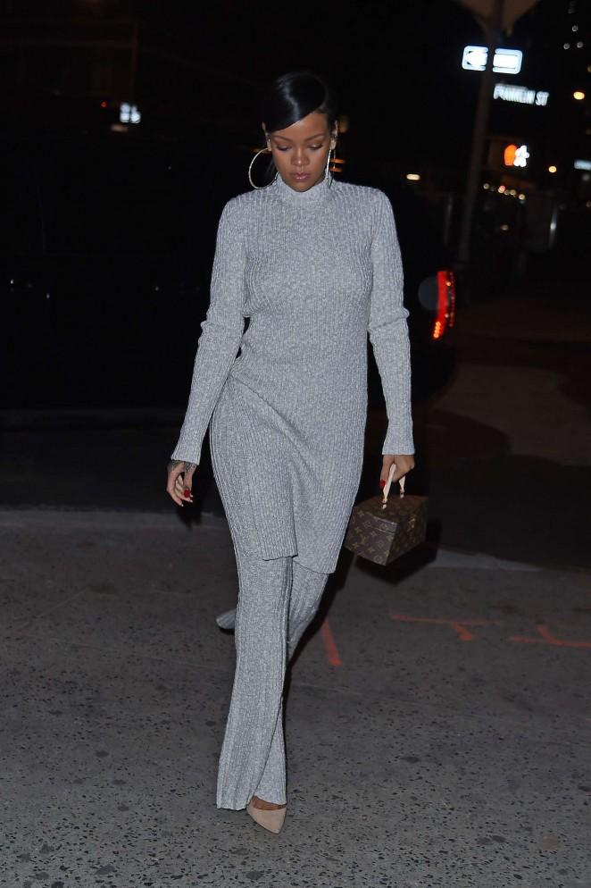 Rihanna 2014 : Rihanna in White at Philippe Chow Restaurant -10