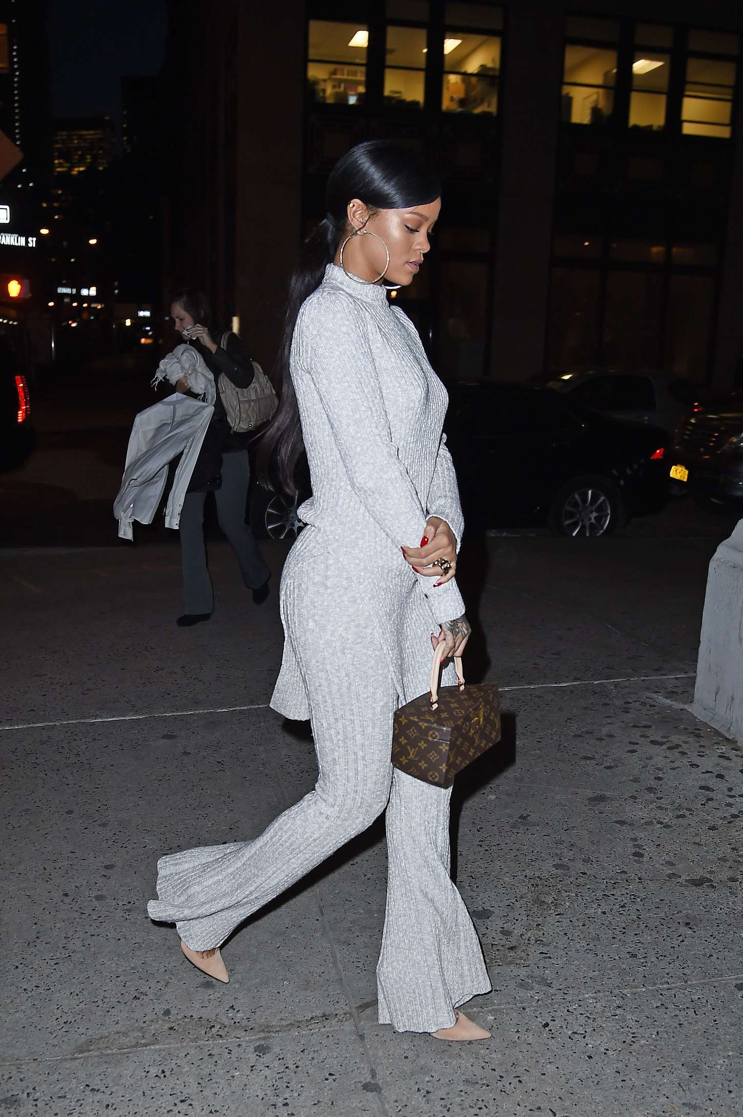 Rihanna 2014 : Rihanna in White at Philippe Chow Restaurant -11