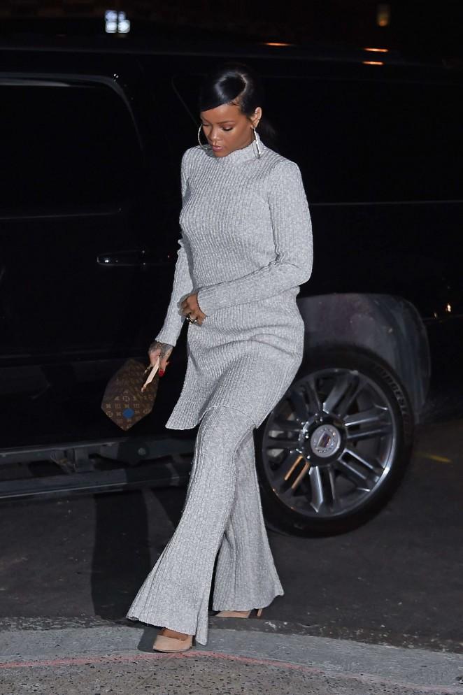Rihanna 2014 : Rihanna in White at Philippe Chow Restaurant -15