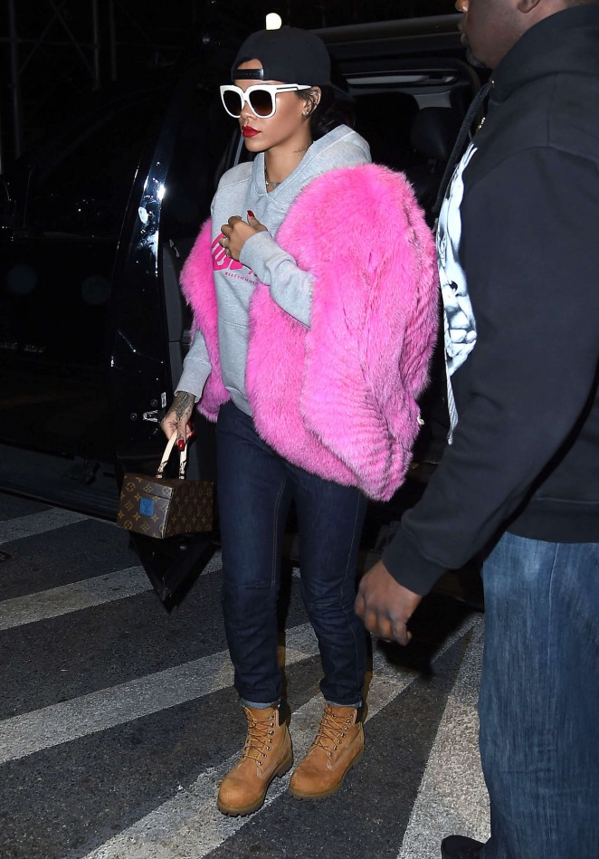 Rihanna in Jeans Out in NYC
