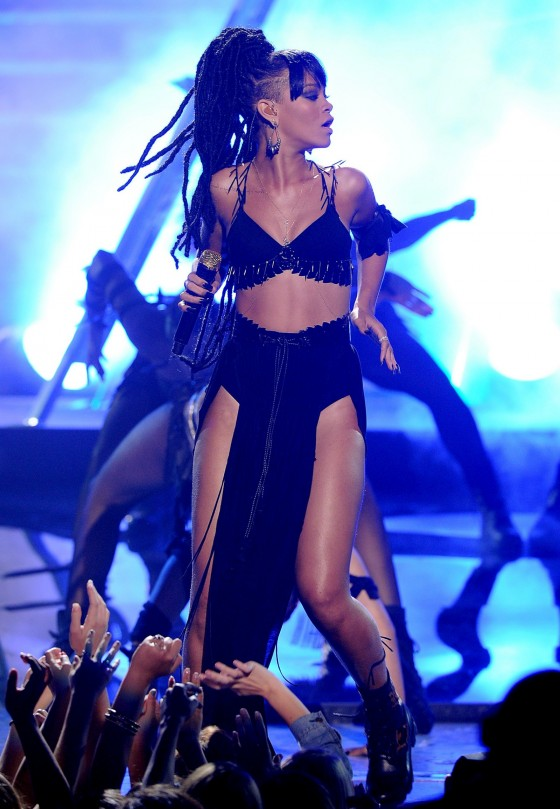 Rihanna performing on stage-11