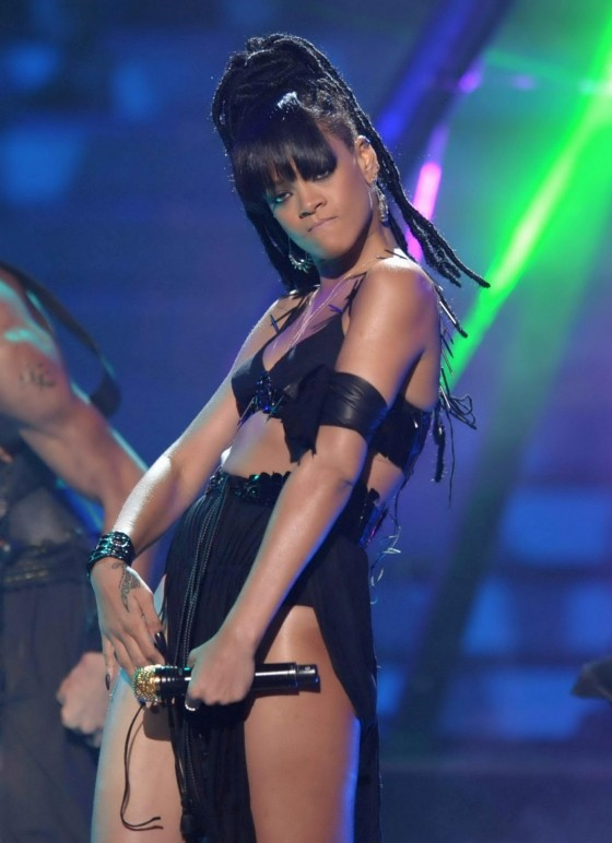 Rihanna performing on stage-17