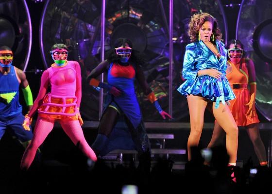 Rihanna – Performing at her Loud Tour in Paris – October 20