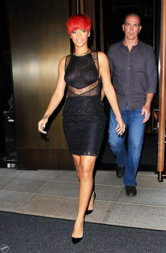 Rihanna candids in NY