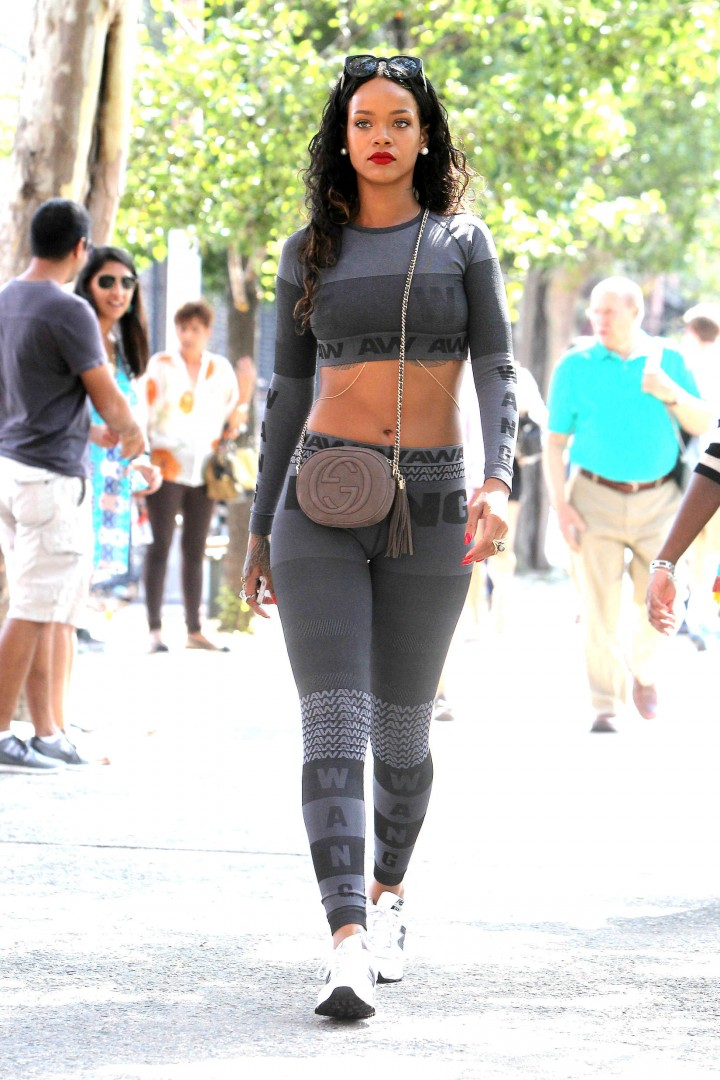 Rihanna Hot in WANG Outfit in NYC -01 - GotCeleb