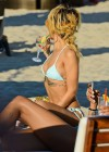Rihanna - Wearing bikini on the beach in Sopot - adds-14