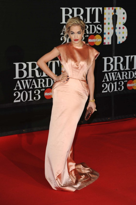 Rita Ora at Brit Awards 2013 -02