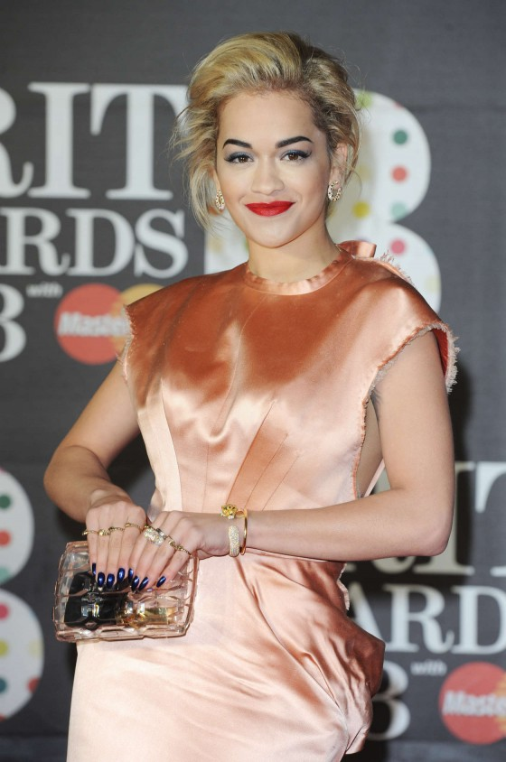 Rita Ora at Brit Awards 2013 -05