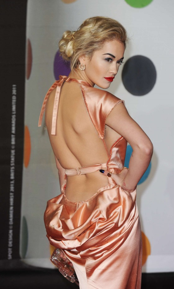 Rita Ora at Brit Awards 2013 -07