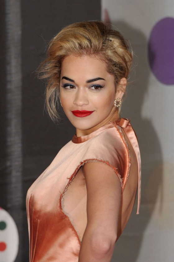 Rita Ora at Brit Awards 2013 -09