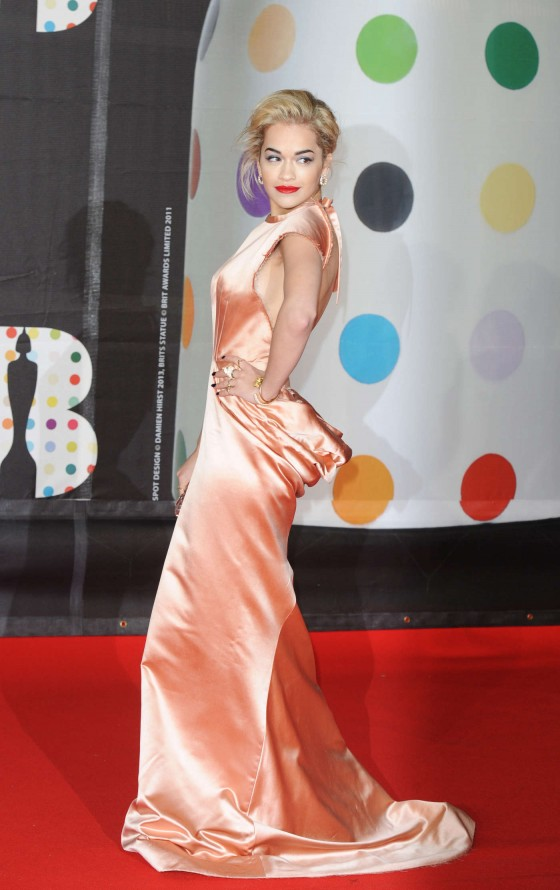 Rita Ora at Brit Awards 2013 -11