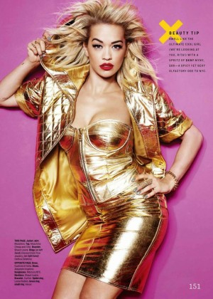 Rita Ora - Cosmopolitan USA Magazine (December 2014) adds