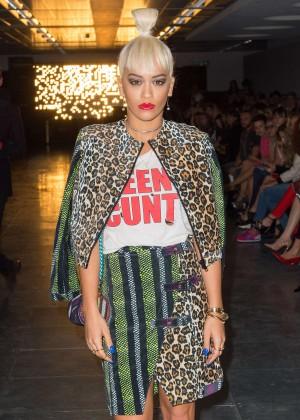 Rita Ora - House Of Holland 2014 London Fashion Week