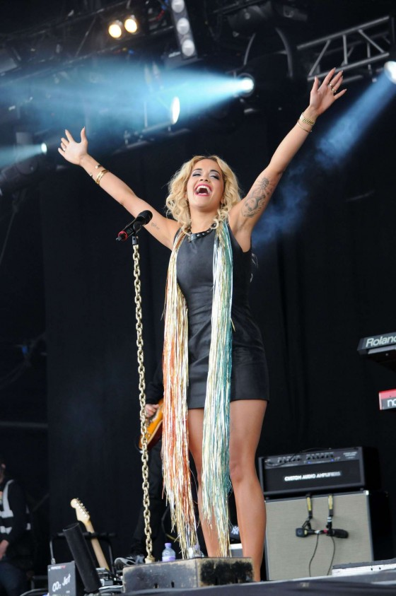 "Rita Ora - Hot concert pics from ""T In The Park"""