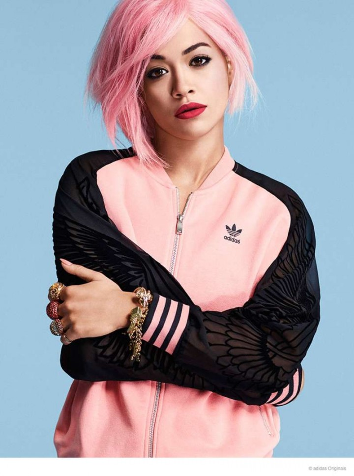 Rita Ora Rocks Pink Hair - New Adidas Originals Photos 2014