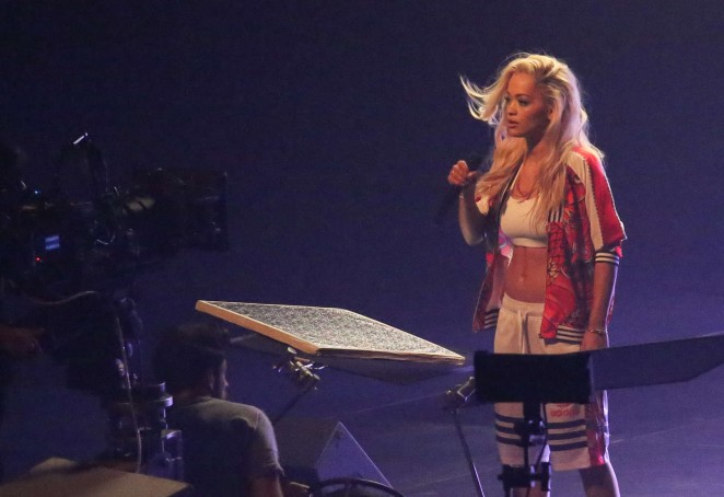 Rita Ora: Filming her new music video -02