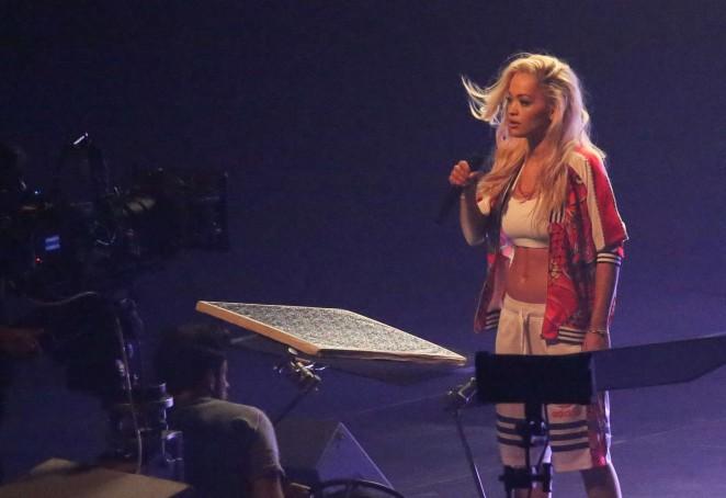 Rita Ora: Filming her new music video -02