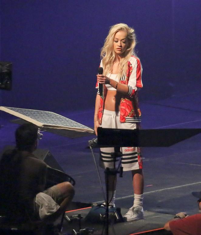 Rita Ora: Filming her new music video -03