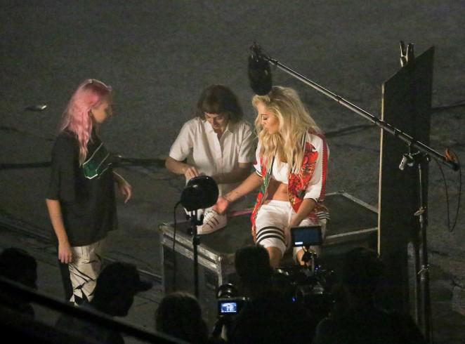 Rita Ora: Filming her new music video -09