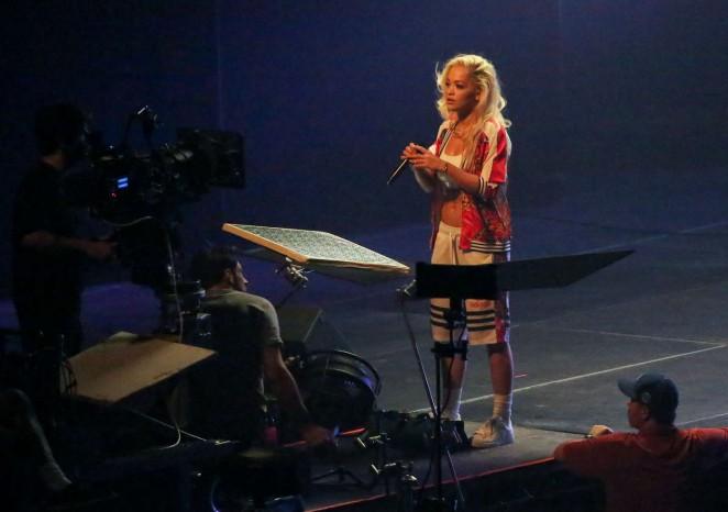 Rita Ora: Filming her new music video -14