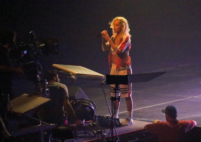 Rita Ora: Filming her new music video -24