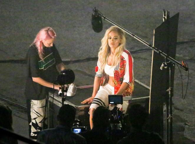 Rita Ora: Filming her new music video -61