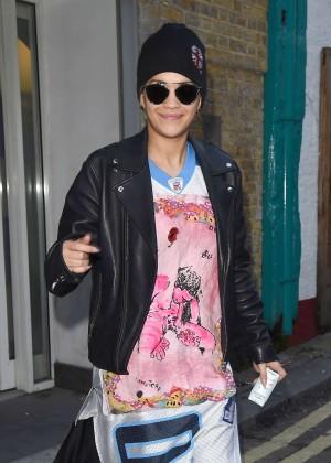 Rita Ora out in London