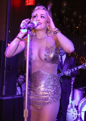 Rita Ora - Performs at Top Of The Standard New Years Eve Party in NY