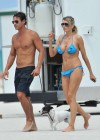 Rita Rusic - In a blue bikini On The Beach In Miami-17