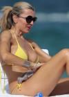 Rita Rusic in a Yellow Bikini in Miami-01