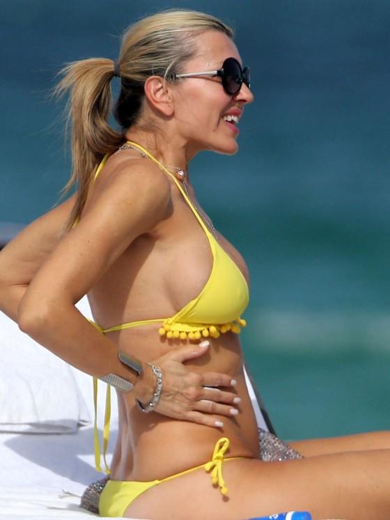 Rita Rusic in a Yellow Bikini in Miami-10