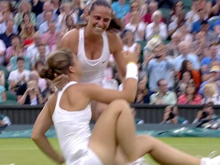 Roberta Vinci and Sara Errani Celebrating Wimbledon 2014 ... Emma Watson Imdb