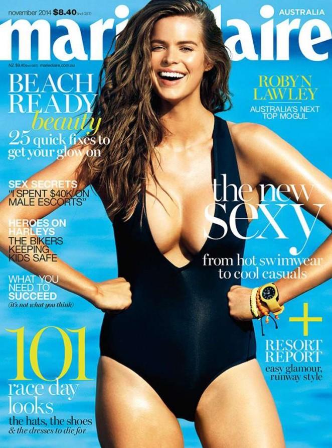 Robyn Lawley - Marie Claire Australia Magazine Cover (November 2014)