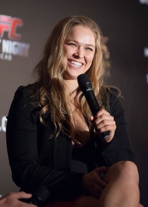 Ronda Rousey - Macau UFC Fight Night Press Conference in Hong Kong