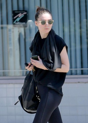 Rooney Mara in Leggings Out in Studio City