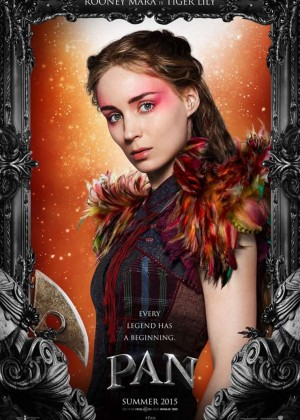 "Rooney Mara as Tiger lily for ""Pan"" Poster 2015"