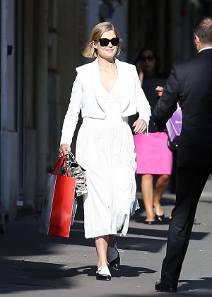 Rosamund Pike Shopping out in Paris