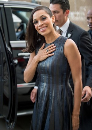 Rosario Dawson at Jimmy Kimmel Live